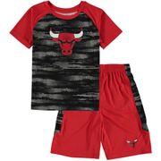 T-shirt et short NBA Chicago Bulls rouge pour enfant taille - 3 ans