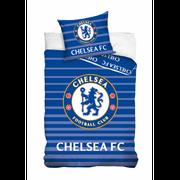 Housse de couette Chelsea officiel 140 x 200 cm Parure 1 place 100 % coton - unique bleu