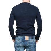 Tee Shirt Superdry M60101rt Heritage Ls 98t Eclipse Navy