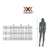 Legging court X-Bionic Regulator Run Speed noir blanc femme