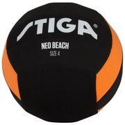 BALLON DE FOOTBALL  Ballon de football et volley Néo beach - Noir et orange - Taille 5