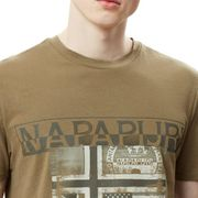 T-shirt Napapijri Sawy manche courte vert kaki