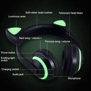 Casque audio bluetooth-Éclatante De L'Oreille Du Lapin Stéréo Bluetooth V4.2 + EDR Casque Casque de Jeu avec la Lumière de LED, Pour iPhone, Galaxy,