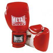 Gants initiation Metal Boxe Rouge Taille - 4oz