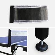 Table de ping pong INDOOR bleue Nagano- table + 2 raquettes et 4 balles, pour utilisation intérieure, sport tennis de table