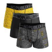 No Publik - Lot De 3 Boxers Homme Simpson Abstract