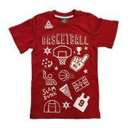T-Shirt Peak Fantasy Basket pour enfant rouge Taille - 6 ans