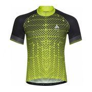 Odlo - Stand-Up Collar Full-Zip Fujin Print Shortsleeve Hommes Maillot de vélo (vert/noir)