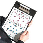 Presse-papiers tactique double face d'entraîneurs de football du football de formation de précision