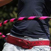 Hula Hoop 1m - 20mm pliable - Turquoise et noir