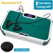 Home Vibration Plate 900 Smart - Plateforme vibrante oscillante - 5 Programmes - 2 Moteurs - Bluetooth -Appli - Vert