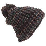Bonnet épais en laine avec pompom - Femme