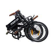 Moma Bikes Vélo Electrique VAE Pliant De ville + porte bagages, E-16TEEN, Aluminium, Bat. Ion Lithium 36V 9Ah