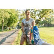 Hudora Roller Disco Skates - Bleu/Vert - taille 37