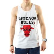 Chicago Bulls Homme Débardeur Basketball Blanc Michell and Ness