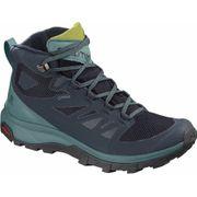 Salomon - Outline Mid GoreTex Femmes chaussures de randonnée (bleu foncé/mint)
