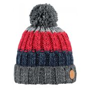 BARTS-Bonnet à pompon gris rouge accessoire garçon du 3 au 16 ans Barts