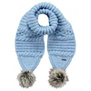 BARTS-Echarpe bleu lila à pompon imitation fourrure enfant fille Barts