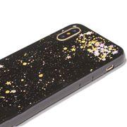 Coque housse pour iphone XS Époxy Motif de Ciel étui Souple Pour iPhone XS Max 6.5 pouces(Noir Paillettes)