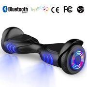 Hoverboard gyropode bluetooth 6.5 pouces, scooter Roues lumineuses à LED de nouvelle génération Q2, noir