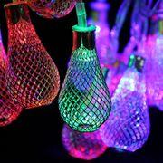 Lumiére décorative-2,7m3LMétalAmpouledeStyledelaChaînedeLumièredeDécoration,20Ledavec76cmrallonge,12VAC-240V