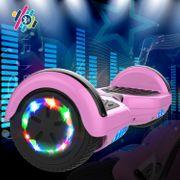 Cool&Fun Hoverboard 6.5 Pouces, Gyropode avec Bluetooth et Pneu à LED de couleur, Overboard Certifé CE, UL, Rose