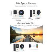 Caméra de sport- H6A HD 1080P WiFi Sport Caméra avec Télécommande Et caisson Étanche, Generalplus 4247, de 2,0 pouces Écran LCD, 140