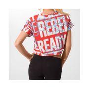Tee-shirt Yoga Rouge Femme Reebok