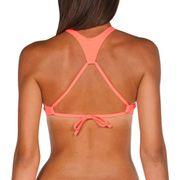 Haut de maillot de bain Arena Crop Think rose jaune femme