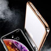 Coque housse pour iphone XS  Miroir Magique de la Série PC Antichoc + Verre de Protection pour l'iPhone XS Max (Or)