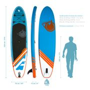 Stand up Paddle gonflable LINER 10'6 (320cm) 30'' (76cm) 6'' (15cm) - SUP avec dérive centale et support caméra, livré avec pompe, Pagaie et Sac de transport