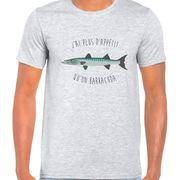 T Shirt Col Rond Imprime barracuda