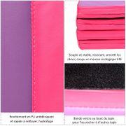 Tapis de sol gymnastique Fitness pliable 305L x 120l cm rembourrage mousse 5 cm grand confort PU rose violet 65