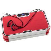 Home Vibration Plate 900 Plus - Plateforme vibrante oscillante - 5 Prog. - 2 Moteurs - Rouge