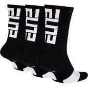 Chaussettes Nike Elite Crew Noir 3 paires Pointure - 38-42