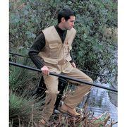 Gilet safari photographe multipoches veste légère sans manches - R045X - beige - reporter