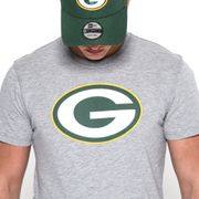 T-Shirt NFL Greenbay Packers New Era Team logo gris pour homme