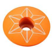 Bouchon de potence Supacaz Star Plugz Powder Coated orange fluo