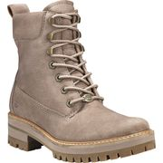 Timberland Courmayeur Valley Yboot Taupe Grey Nubuck , 7.5, Wide