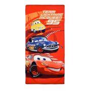 Drap de plage Cars Disney Team McQueen 95 70x140 cm - unique rouge