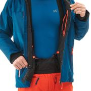 Veste De Ski Millet Liskamm Stretch Parka Bleu Homme