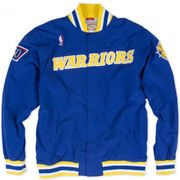 Warm up NBA Golden State 1996-97 Warriors Mitchell & Ness Authentic Jacket Bleu pour Homme taille - L