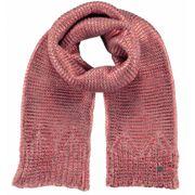 BARTS-Echarpe en maille rose corail légérement brillant Barts