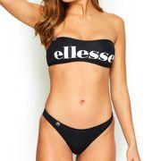 Ellesse Solaro Womens Ladies Bikini Bandeau Top Black/White