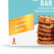 3 x Diet Bar 35 g - Pâte à Biscuits aux Pépites de Chocolat