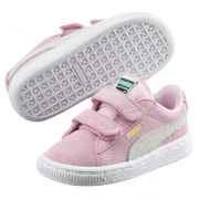 Chaussures Puma Suede 2 Straps Kids - Pink Lady / Team Gold