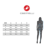 Castelli - Solare Femmes Maillot de vélo (noir/blanc)