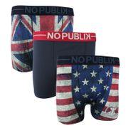 No Publik - Lot De 3 Boxers Microfibre Homme Usa And Uk