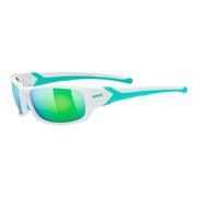 Lunettes Uvex Sportstyle 211 blanc vert miroir vert