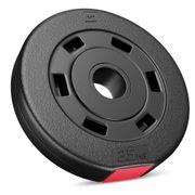 Poids disques en plastique 5 kg (2 x 2,5 kg) Hop-Sport